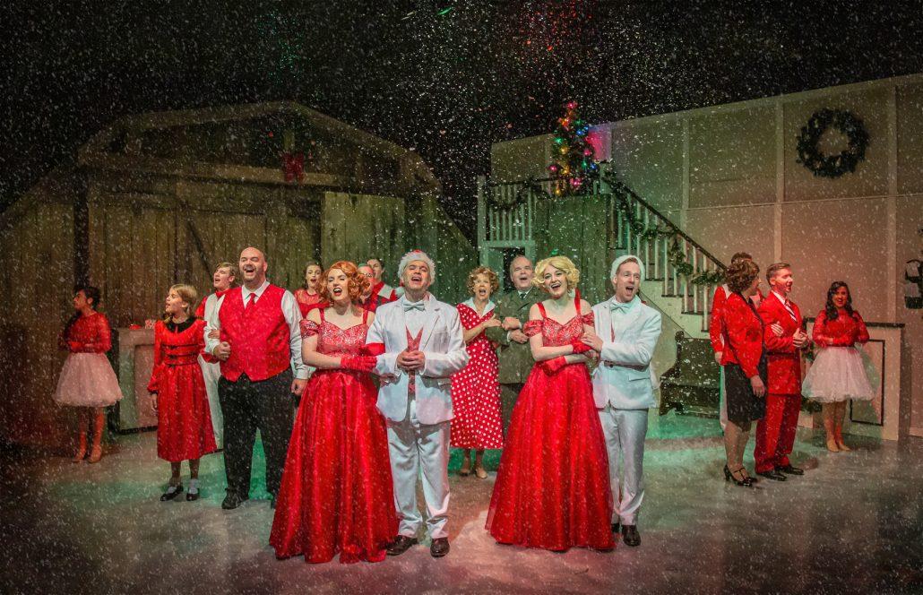 The cast of White Christmas, December 2019